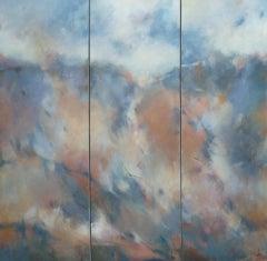 Jo Jenkins, Breaking Through 1, 2, 3, Original Abstract Artwork, Bright Painting