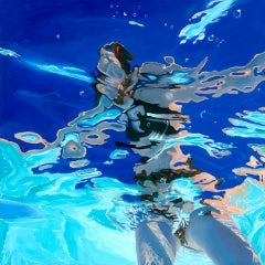 Amy Devlin, Distortion No2, Original Abstract Figurative Painting, Pop Art