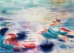 Roberta Tetzner, Holiday Memory 3, Contemporary Abstract Art, Bright Painting