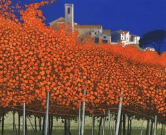 Phil Greenwood, Autumn Vines, Autumnal Art, Landscape Art