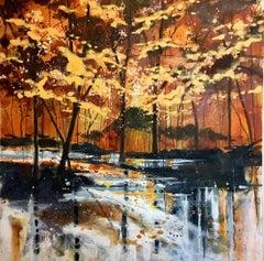 Adele Riley, Walk With Me, Original Landscape Painting