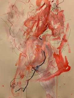 Judith Brenner, Solfrid Dancing, Original Figurative Painting, Affordable Art