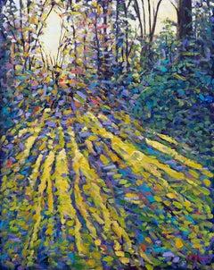 Lee Tiller, Luminosity I, Original Landscape Painting, Impressionist Artwork
