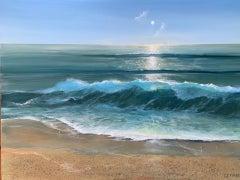 Carolyn Tryer, Light on the Horizon, Original Contemporary Seascape Painting