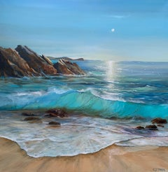 Carolyn Tryer, Memories are made by the Sea, Original Realist Seascape Painting