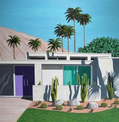 Karen Lynn, Californian Cactus- Purple Door, Affordable Contemporary Art