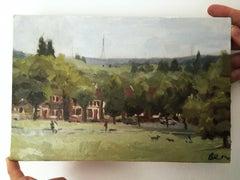 Benedict Flanagan, Hilly Fields 2, Original Landscape Painting, Art Online