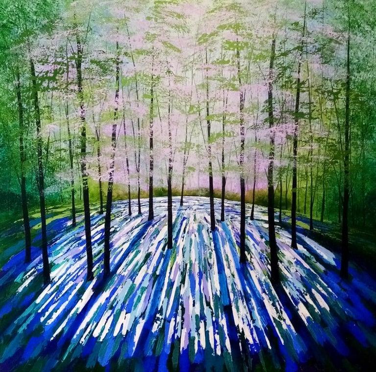 Amanda Horvath, Lantern Blue, Original Art Online, Affordable Art - Painting by Amanda Horvath