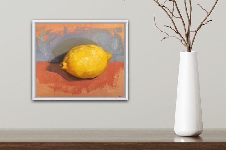 Benedict Flanagan, Lemon, Original Still Life Painting, Affordable Art For Sale 2