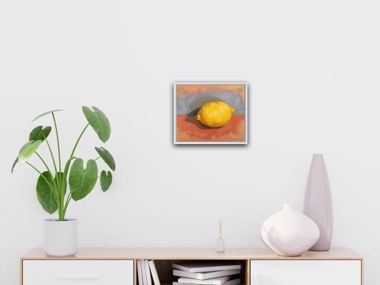 Benedict Flanagan, Lemon, Original Still Life Painting, Affordable Art For Sale 3