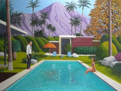 Karen Lynn, Sunset Cocktail, Original Graphic Painting, Art Online