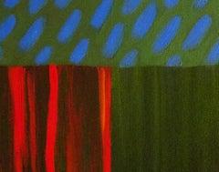 Christo Sharpe, Deep Green Under Blue Sky,Landscape Painting, Affordable Art