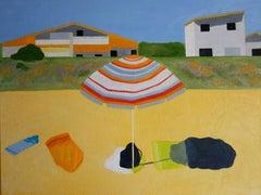 Christo Sharpe, Beach Umbrella, Original Art,