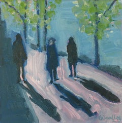 Eleanor Woolley, Winter Shadows 5, Original Painting, Affordable Art Online