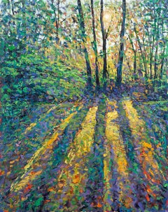 Lee Tiller, Luminosity III, Contemporary Impressionist Painting, Affordable Art
