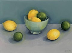 Jonquil Williamson, Lemons and Limes with Bowl, Affordable Art, Still Life Art
