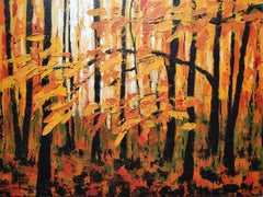 Alexandra Buckle, Autumn Woodland Sight, Original Painting, Art Online