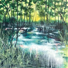 Adele Riley, Sit With Me A while, Original Landscape Painting, Affordable Art