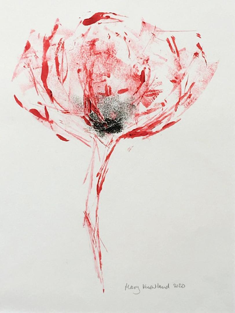 Mary Knowland, Poppy 15, Monoprint Unique Print, Affordable Art, Art Online