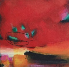 Sarah Foat, Exposed, Contemporary Abstract Landscape Painting, Affordable Art