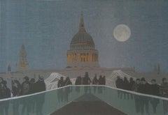 Anna Harley, St Pauls, Limited Edition Silkscreen Print, London Art, Art Online