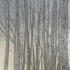 Anna Harley, Silver Birch Mini, Limited Edition Print, Nature Art, Art Online