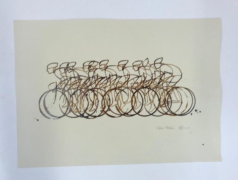 Eliza Southwood, Coffee Peleton, Cycle Art, Affordable Art, Art Online For Sale 1