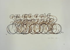 Eliza Southwood, Coffee Peleton, Cycle Art, Affordable Art, Art Online