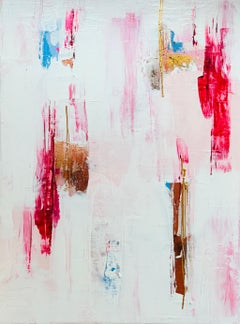 Paula Cherry, Pink Wishes, Original Painting, Abstract Art, Affordable Art