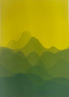 Matt Jukes, Going Back to Cali, Cali Unique Abstract Monoprint, Affordable Art