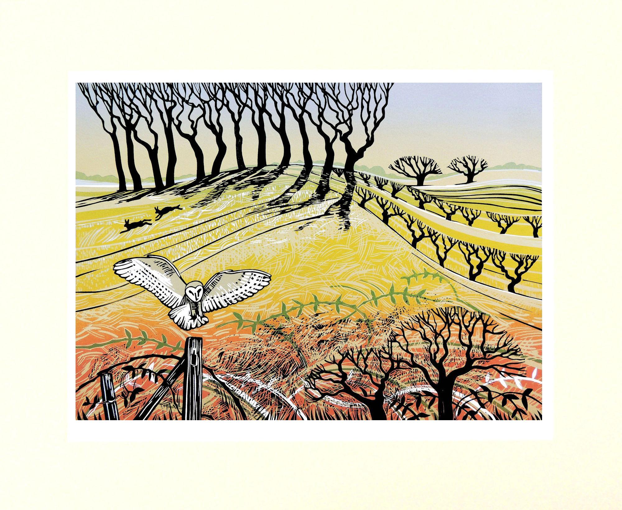 Rob Barnes, The Owl Post, Limited Edition Print, Landscape Art, Art Online