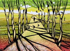 Rob Barnes, Tree Shadows, Limited Edition Print, Affordable Art, Landscape Art