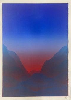 Matt Jukes, Light Falls All Around, Unique Abstract Monoprint, Affordable Art
