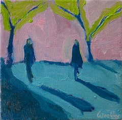Eleanor Woolley, Winter Shadows 8, Original Landscape Painting, Affordable Art
