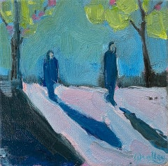 Eleanor Woolley, Winter Shadows 9, Original Landscape Painting, Affordable Art