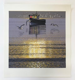 Mark Pearce, Sunshine and Seagulls, Limited Edition Print, Seascape Art