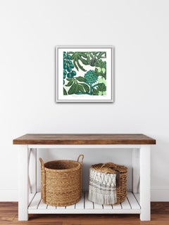 Kate Heiss, Greengages, Gooseberries and a Fig, Limited Edition Linocut Print
