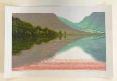 Mark Pearce, Summer Wasdale, Limited Edition Linoprint, Landscape Art