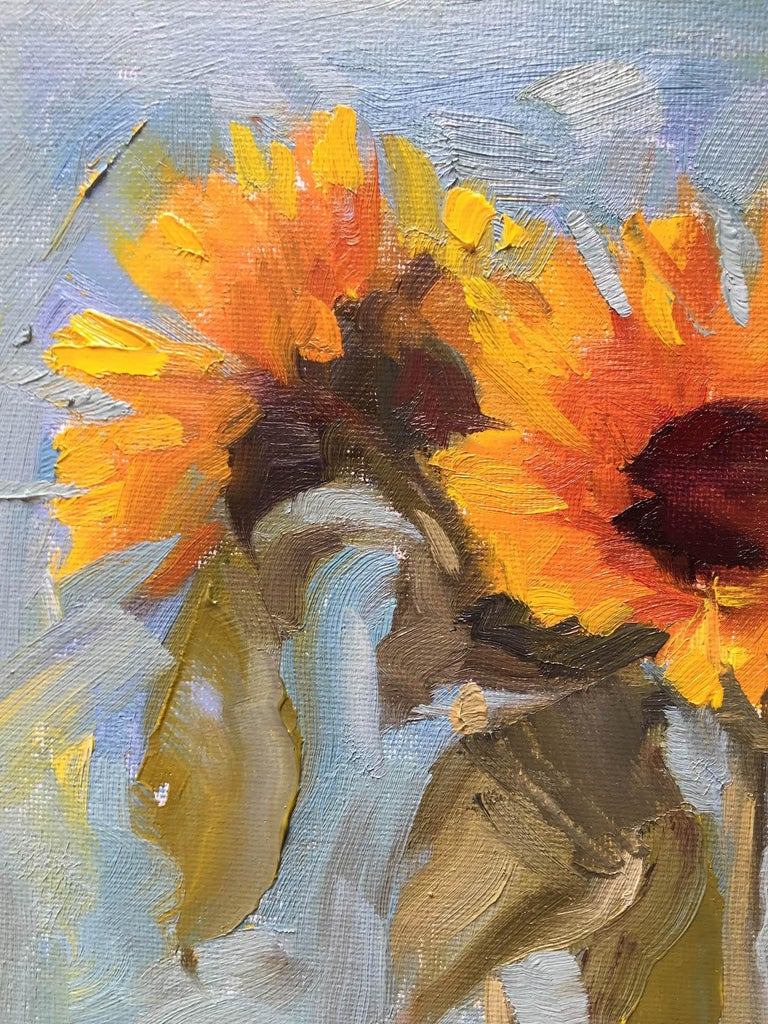 Benedict Flanagan, Sunflower, Original Still Life Painting, Affordable Art For Sale 1