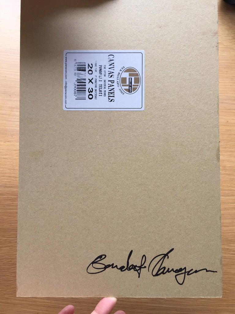 Benedict Flanagan, Sunflower, Original Still Life Painting, Affordable Art For Sale 3