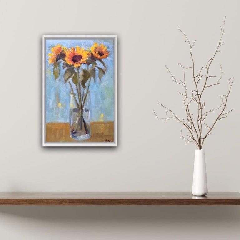 Benedict Flanagan, Sunflower, Original Still Life Painting, Affordable Art For Sale 4