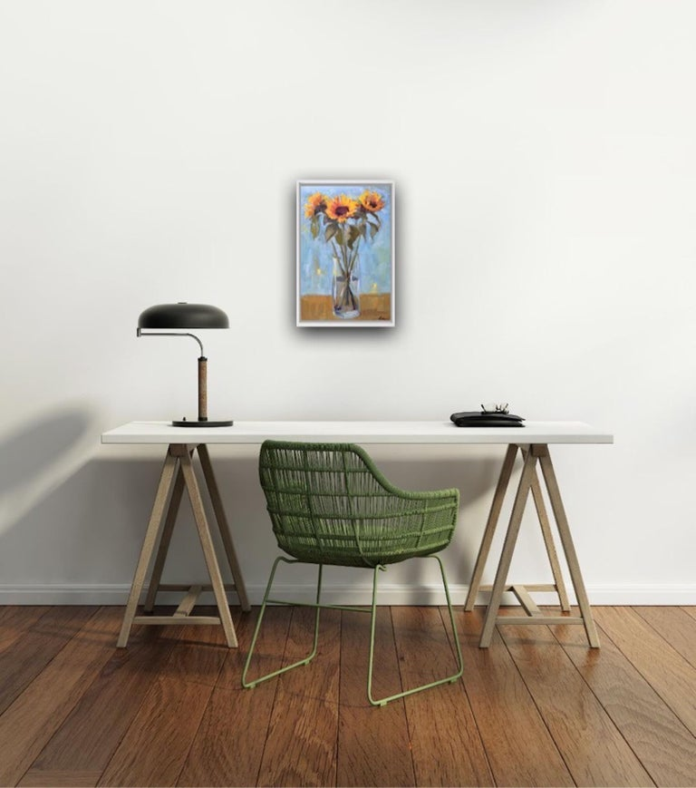 Benedict Flanagan, Sunflower, Original Still Life Painting, Affordable Art For Sale 5
