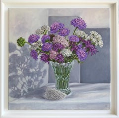 Marie Robinson, August Hedgerow, Original Still Life Painting, Affordable Art
