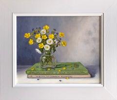 Marie Robinson, Wildflower Posy, Original Still Life Painting, Affordable Art