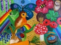 Henrietta Caledon, Over the Rainbow, Original Painting, Colourful Art