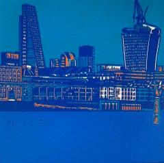 Jennifer Jokhoo, Riverbank SE1 variation, Affordable Art, London Art, City Art