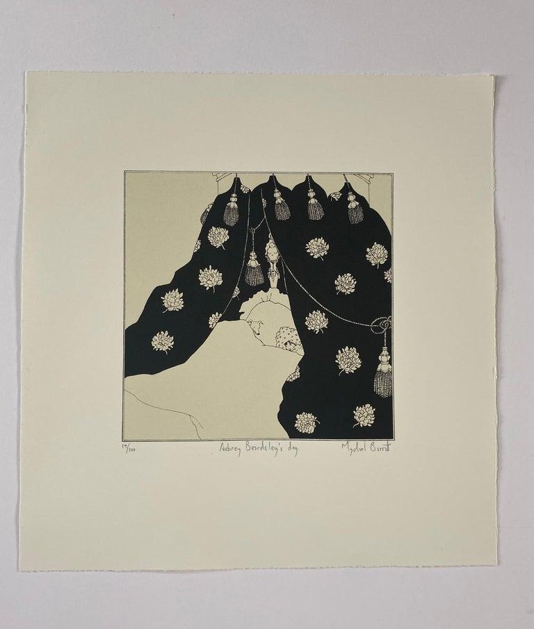Mychael Barratt, Aubrey Beardsley's Dog, Affordable Art, Animal Art, Witty Art - Print by Mychael Barratt
