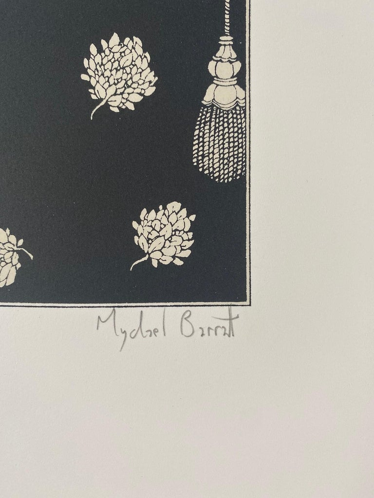 Mychael Barratt Aubrey Beardsley's Dog Limited Edition Silkscreen Print Edition of 100 Image size: H 22cm x W22cm Sheet Size: H 40cm x W 38cm Signed and titled Sold Unframed Please note that in situ images are purely an indication of how a piece may