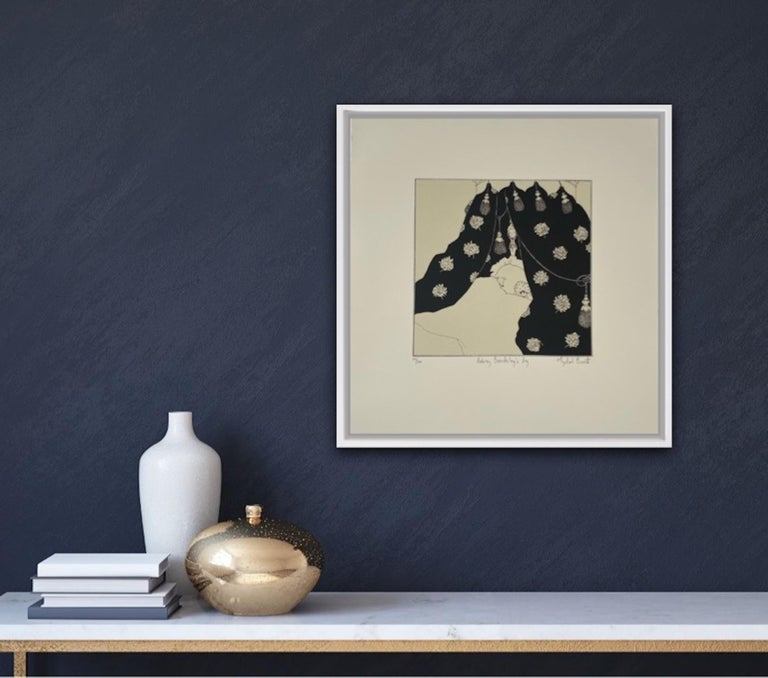 Mychael Barratt, Aubrey Beardsley's Dog, Affordable Art, Animal Art, Witty Art For Sale 3