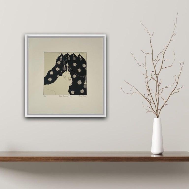 Mychael Barratt, Aubrey Beardsley's Dog, Affordable Art, Animal Art, Witty Art For Sale 4